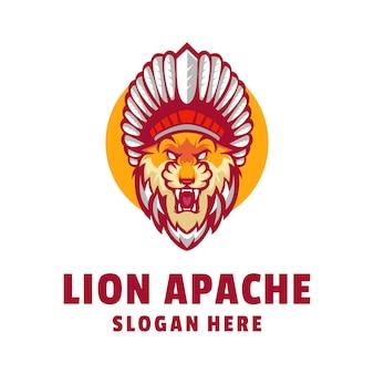 Leeuw apache logo ontwerp