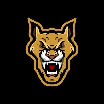 Leeuw brullen mascotte logo