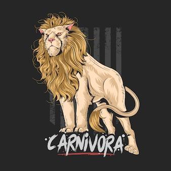 Leeuw carnivora kunstwerk