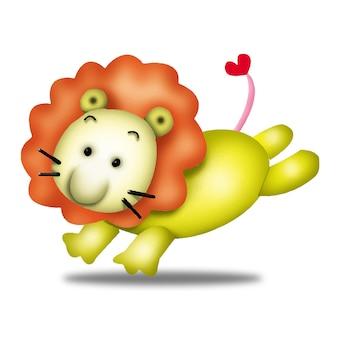 Leeuw cartoon schattige dieren wild huisdier barbie karakter pop zoet model emotie kunst