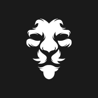 Leeuw gezicht logo ontwerp