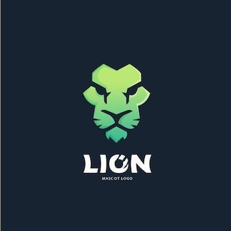 Leeuw gezicht logo ontwerpsjabloon