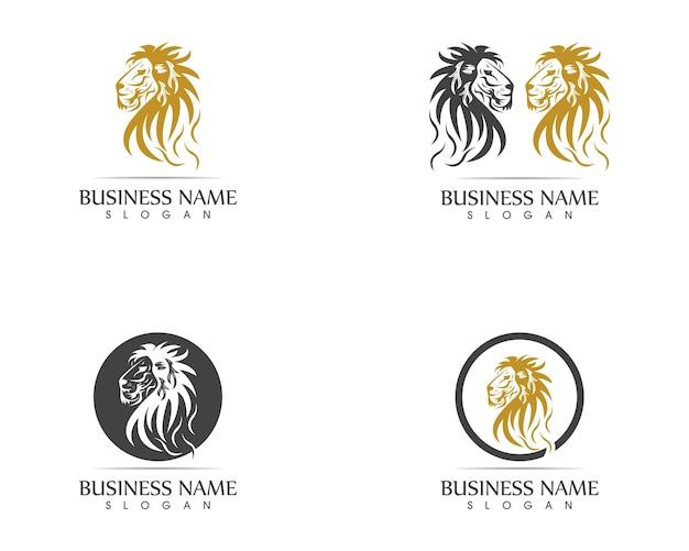 Leeuw hoofd logo sjabloon