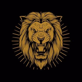 Leeuw illustratie logo