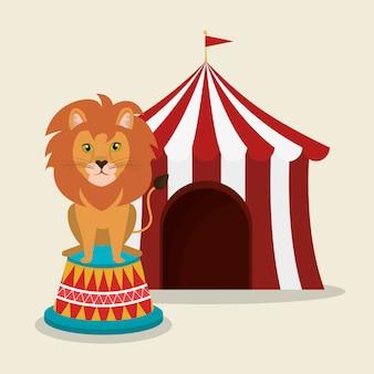 Leeuw in het circus