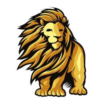 Leeuw lang haar illustratie