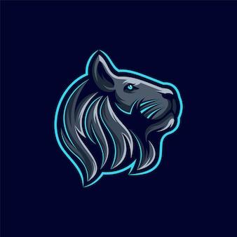 Leeuw logo ontwerp illustratie Premium Vector