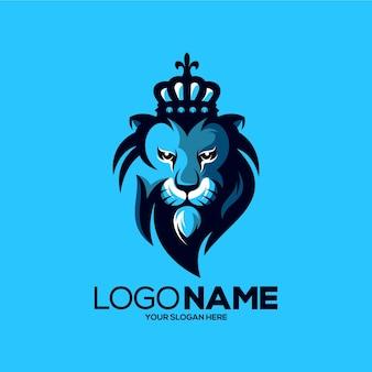 Leeuw mascotte logo ontwerp illustratie