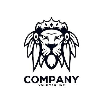 Leeuw mascotte logo ontwerp