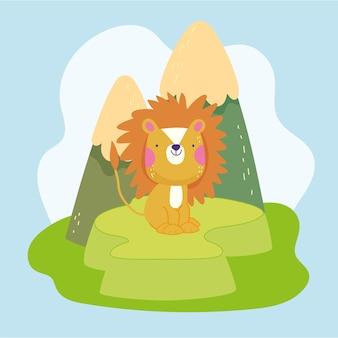 Leeuw schattige cartoon