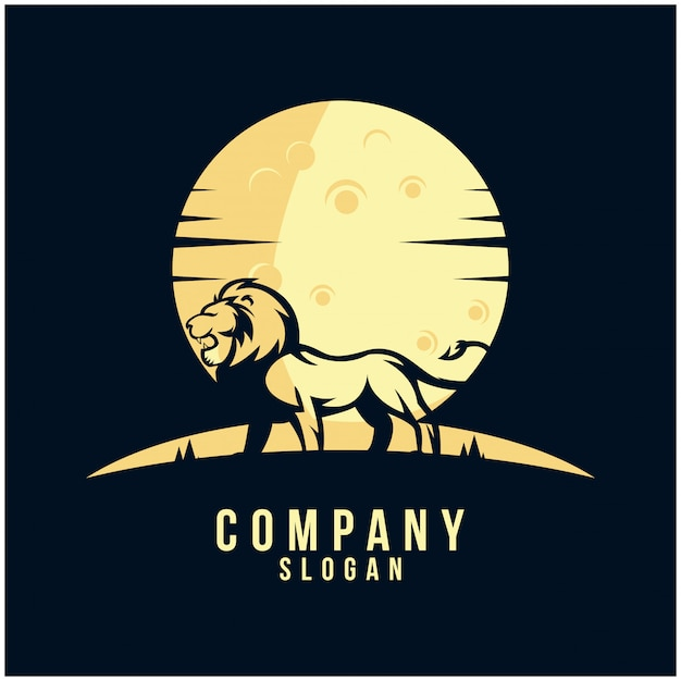 Leeuw silhouatte logo