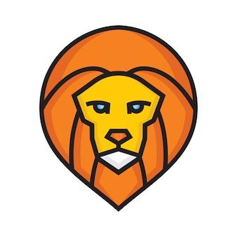 Leeuw vector pictogram