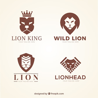 Leeuwen logo's, bruine kleur