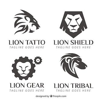 Leeuwen logo's met versnellingen