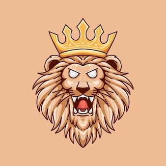 Leeuwenkoning afbeelding ontwerp