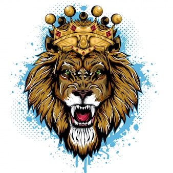 Leeuwenkoning dier gezicht