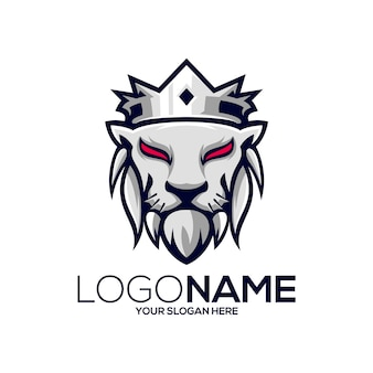 Leeuwenkoning logo ontwerp