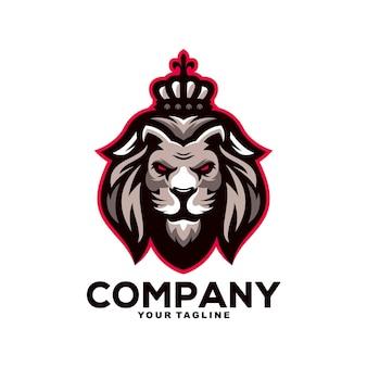 Leeuwenkoning mascotte logo ontwerp