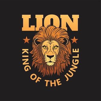 Leeuwenkoning van de jungle logo sjabloon