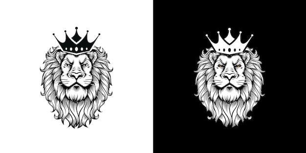 Leeuwenkoning vectorillustratie