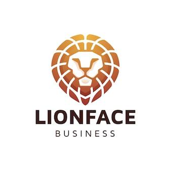 Leeuwenkop gradiënt logo ontwerp