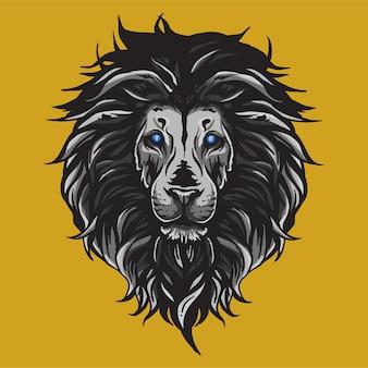 Leeuwenkop mascotte logo