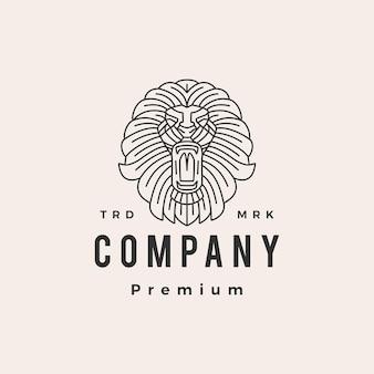 Leeuwenkop overzicht hipster vintage logo