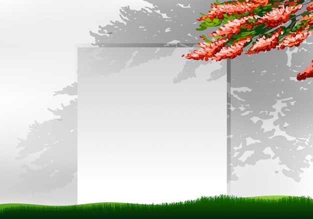 Lege achtergrond met boom