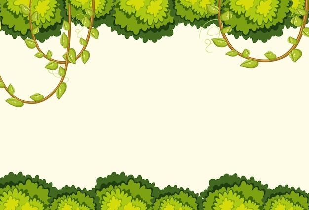 Lege achtergrond met jungle-boomelementen