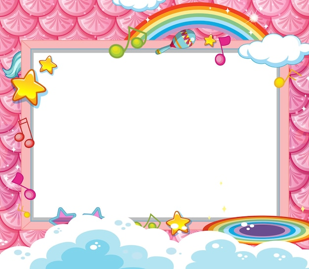 Lege banner op roze vissenschubben