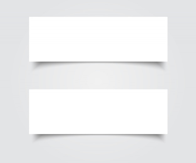 Lege banners vector