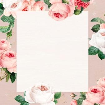 Lege bloemen vierkante frame vector