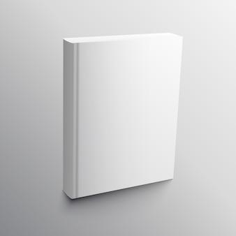 Lege boek realistische mockup template vector