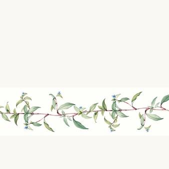 Lege botanische achtergrondontwerpvector