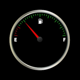 Lege brandstofmeter