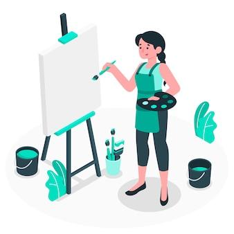 Lege canvas concept illustratie