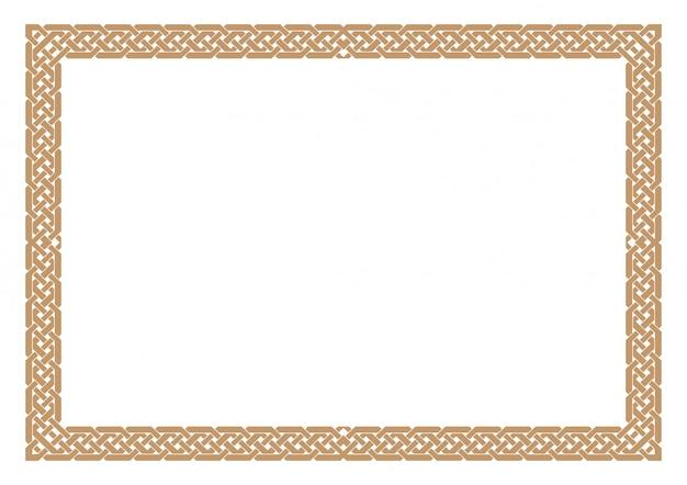 Lege certificaatgrens, klaar voeg tekst toe, in gouden kleur