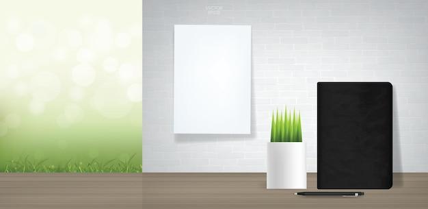 Lege computer achtergrond weergeven. zakelijke achtergrond voor webdesign of sjabloonontwerp. vector illustratie.