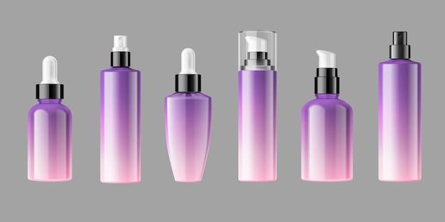 Lege cosmetische flessen