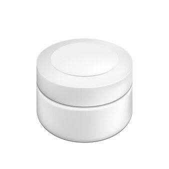 Lege cosmetische pakketcontainer voor room