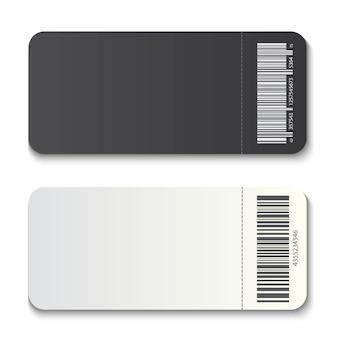 Lege coupon van de het modeluitnodiging van het kaartjesmalplaatje.
