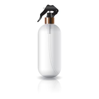 Lege duidelijke ovale ronde kosmetische fles