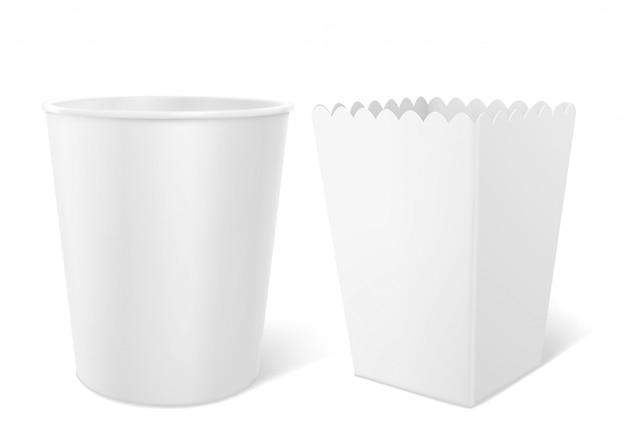 Lege emmer voor popcorn, kippenvleugels of poten