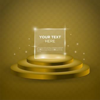 Lege fase vector ontwerpsjabloon met gouden kleur