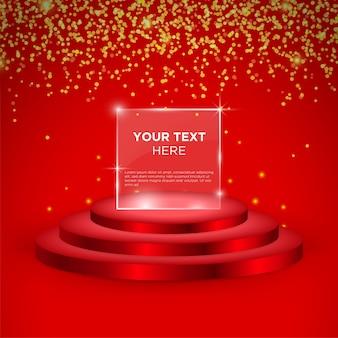 Lege fase vector ontwerpsjabloon met rode kleur