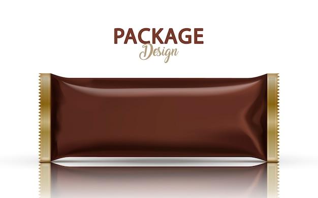 Lege folie pakket ontwerp illustratie