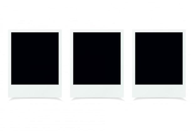 Lege fotolijsten op witte achtergrond
