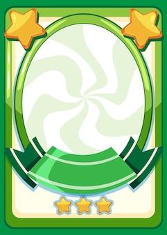 Lege gamekaartsjabloon