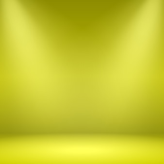 Lege gele kamer. studio met schijnwerpers. illustratie.