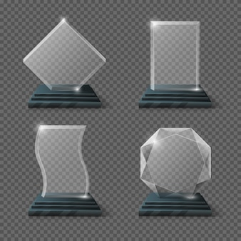 Lege glazen trofee awards set
